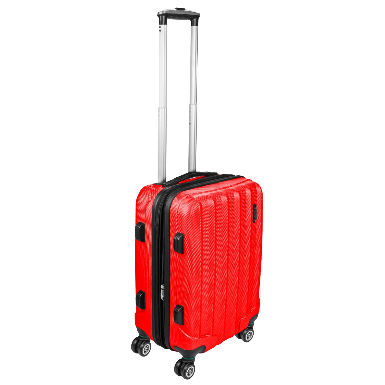 Shaik Trolley-Koffer aus formstabiler, kratzfester Hartschale M Rot SH001
