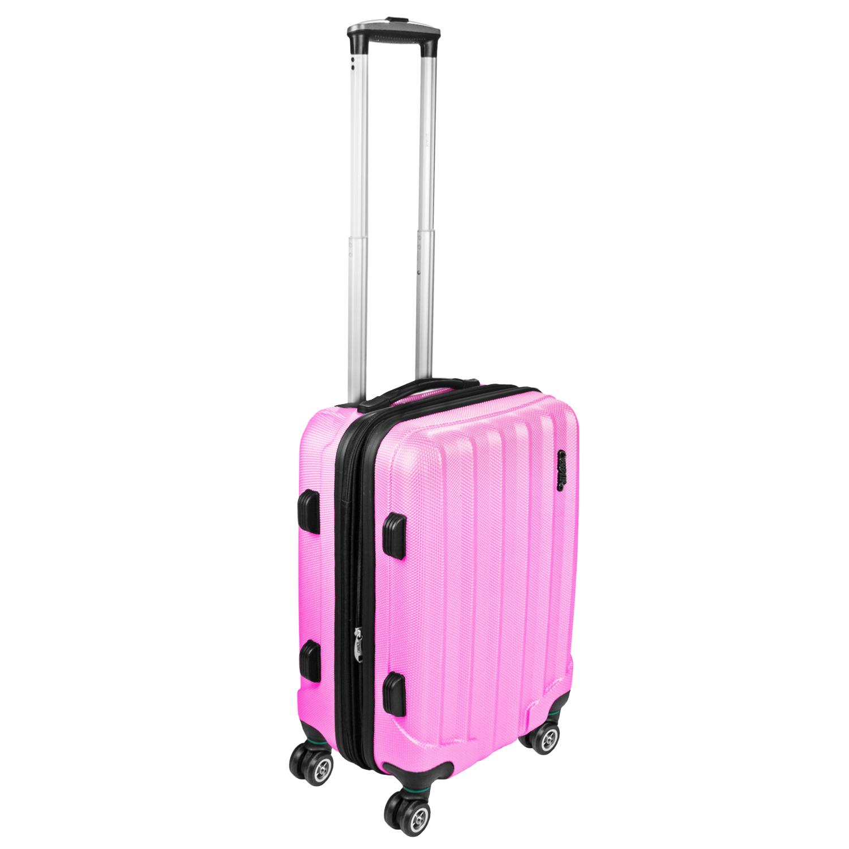 Shaik Trolley-Koffer aus formstabiler, kratzfester Hartschale M Rosa