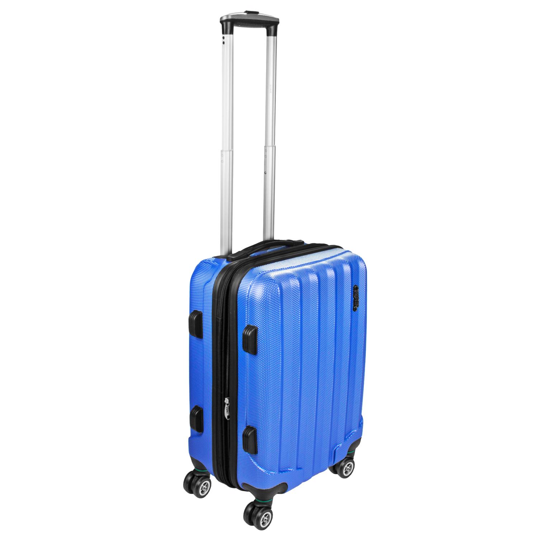 Shaik Trolley-Koffer aus formstabiler, kratzfester Hartschale M Himmelblau SH001