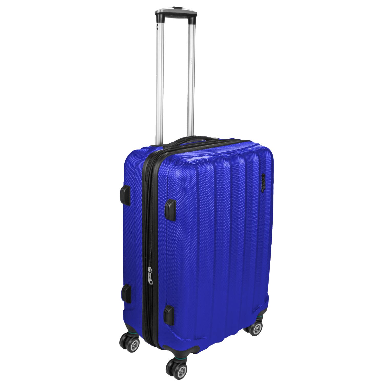 Shaik Trolley-Koffer aus formstabiler, kratzfester Hartschale L Dunkelblau SH001