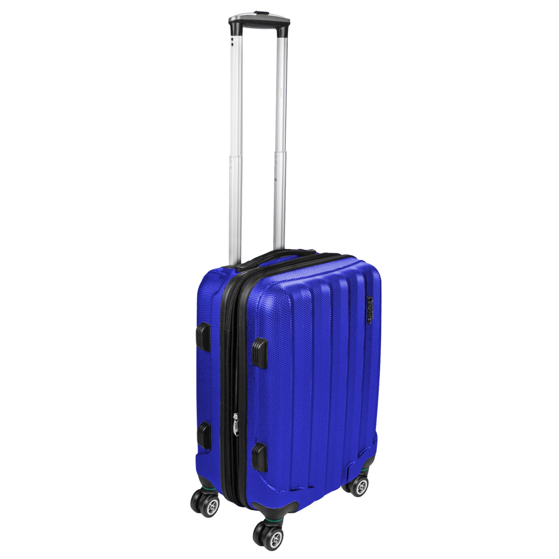 Shaik Trolley-Koffer aus formstabiler, kratzfester Hartschale M Dunkelblau SH001