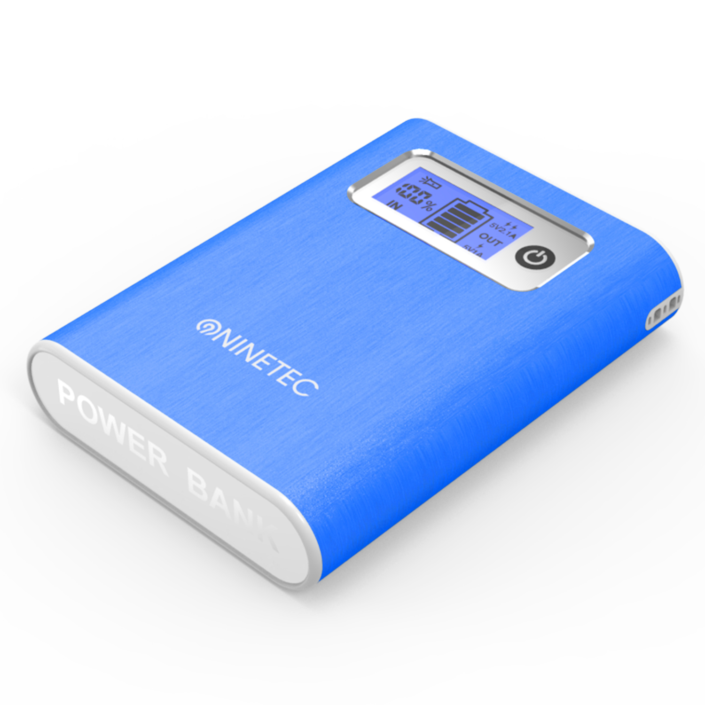 NINETEC 13000mAh PowerBank Externer Akku blau NT-568