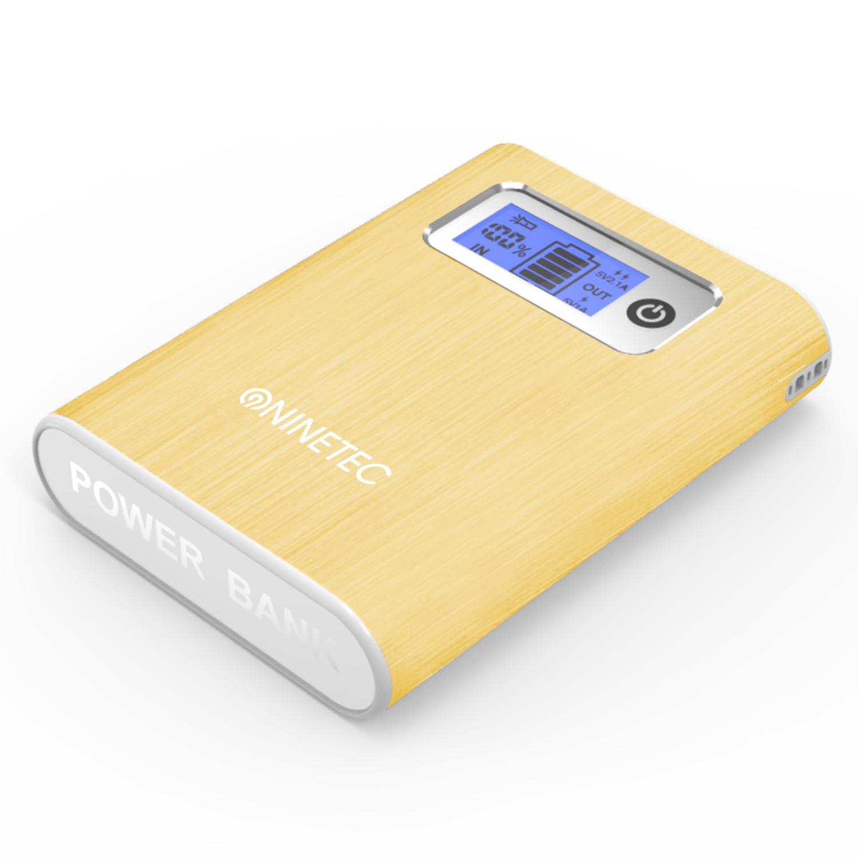 NINETEC 13000mAh PowerBank Externer Akku gold NT-568