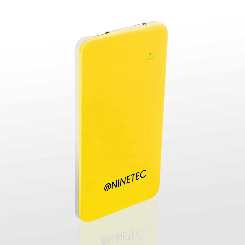 NINETEC 5.000mAh PowerBank Externer Akku gelb NT004