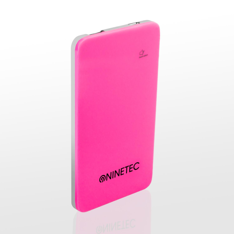 NINETEC 5.000mAh PowerBank Externer Akku pink NT004