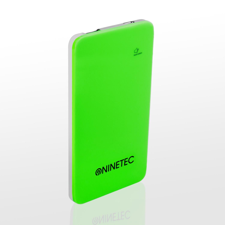 NINETEC 5.000mAh PowerBank Externer Akku grün NT004