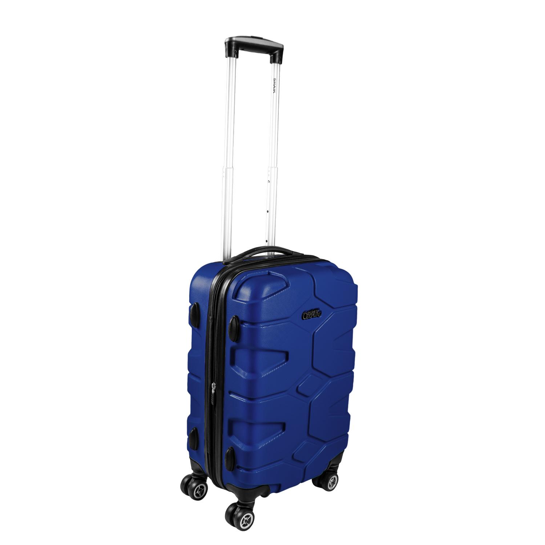 Shaik Razzer Trolley-Koffer aus formstabiler, kratzfester Hartschale M Dunkelblau SH002