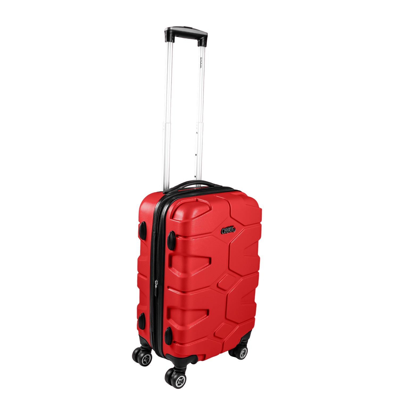 Shaik Razzer Trolley-Koffer aus formstabiler, kratzfester Hartschale M Rot SH002