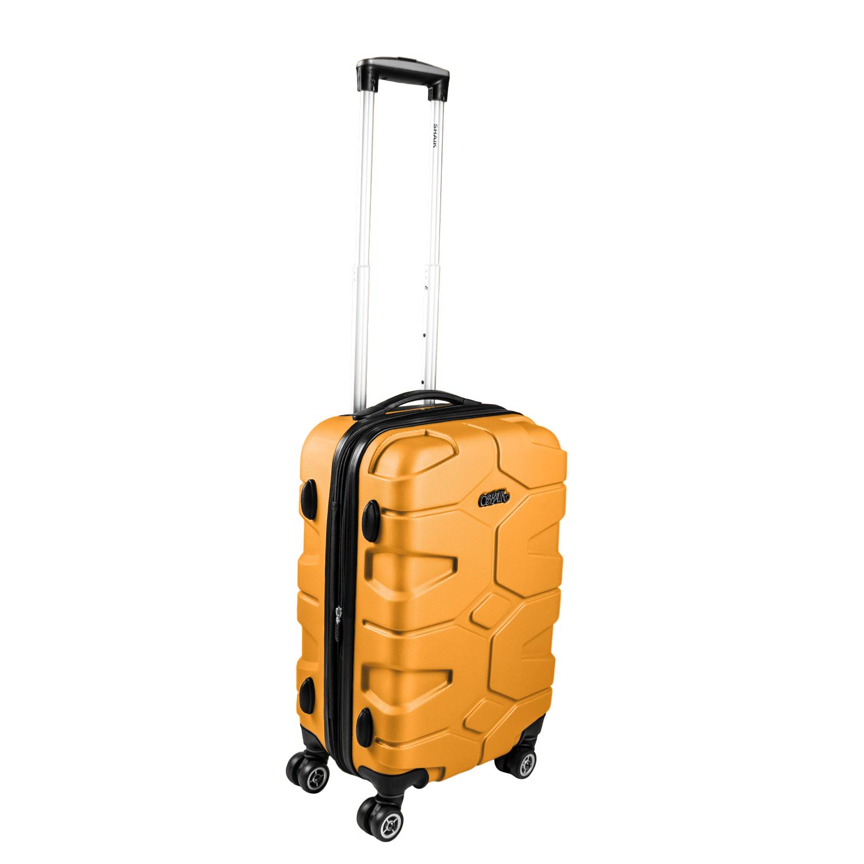 Shaik Razzer Trolley-Koffer aus formstabiler, kratzfester Hartschale M Aprikogelb SH002