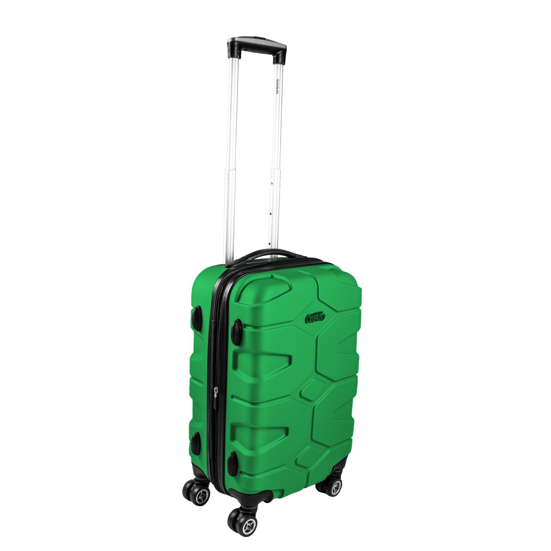 Shaik Razzer Trolley-Koffer aus formstabiler, kratzfester Hartschale M Grün SH002