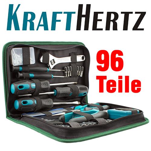 KRAFTHERTZ Premium-Werkzeugset mit 96 Teilen