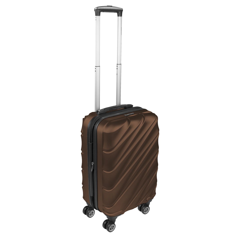 Shaik Xavion Trolley-Koffer aus formstabiler, kratzfester Hartschale M Braun SH003