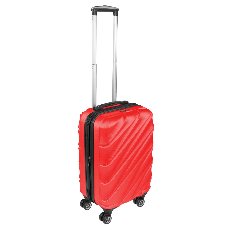 Shaik Xavion Trolley-Koffer aus formstabiler, kratzfester Hartschale M Rot SH003