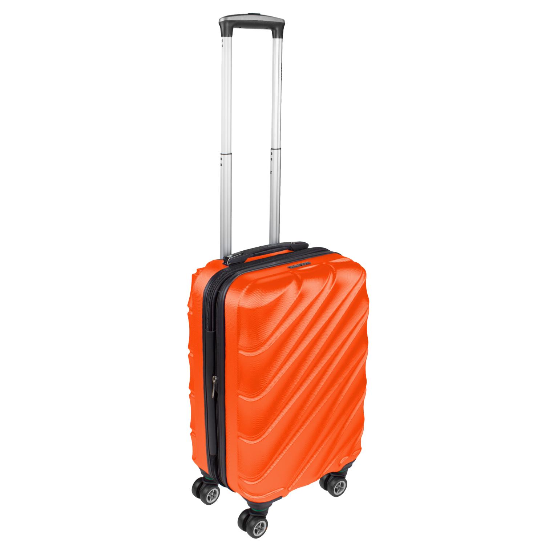 Shaik Xavion Trolley-Koffer aus formstabiler, kratzfester Hartschale M Orange SH003