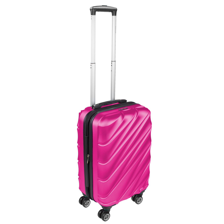 Shaik Xavion Trolley-Koffer aus formstabiler, kratzfester Hartschale M Rosa SH003