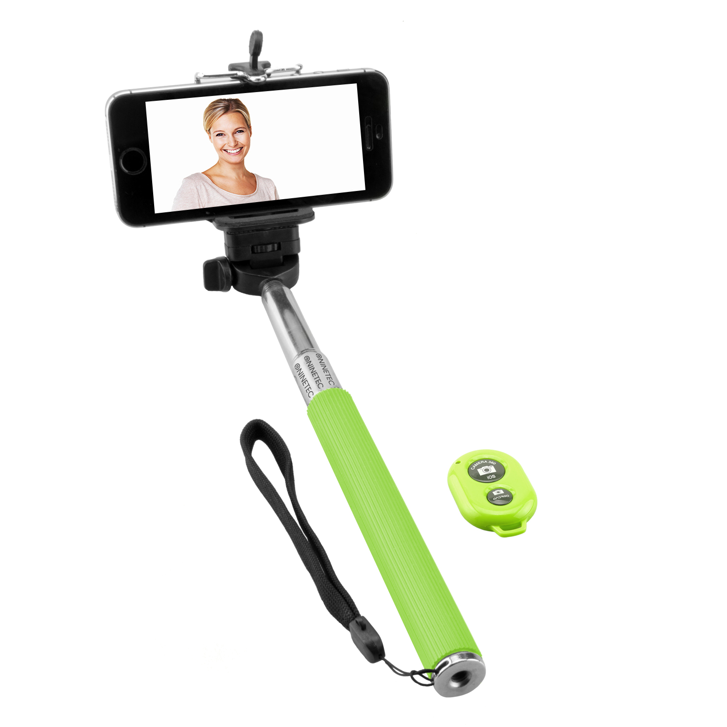 NINETEC Picturesmart Bluetooth Selfie-Maker in Grün