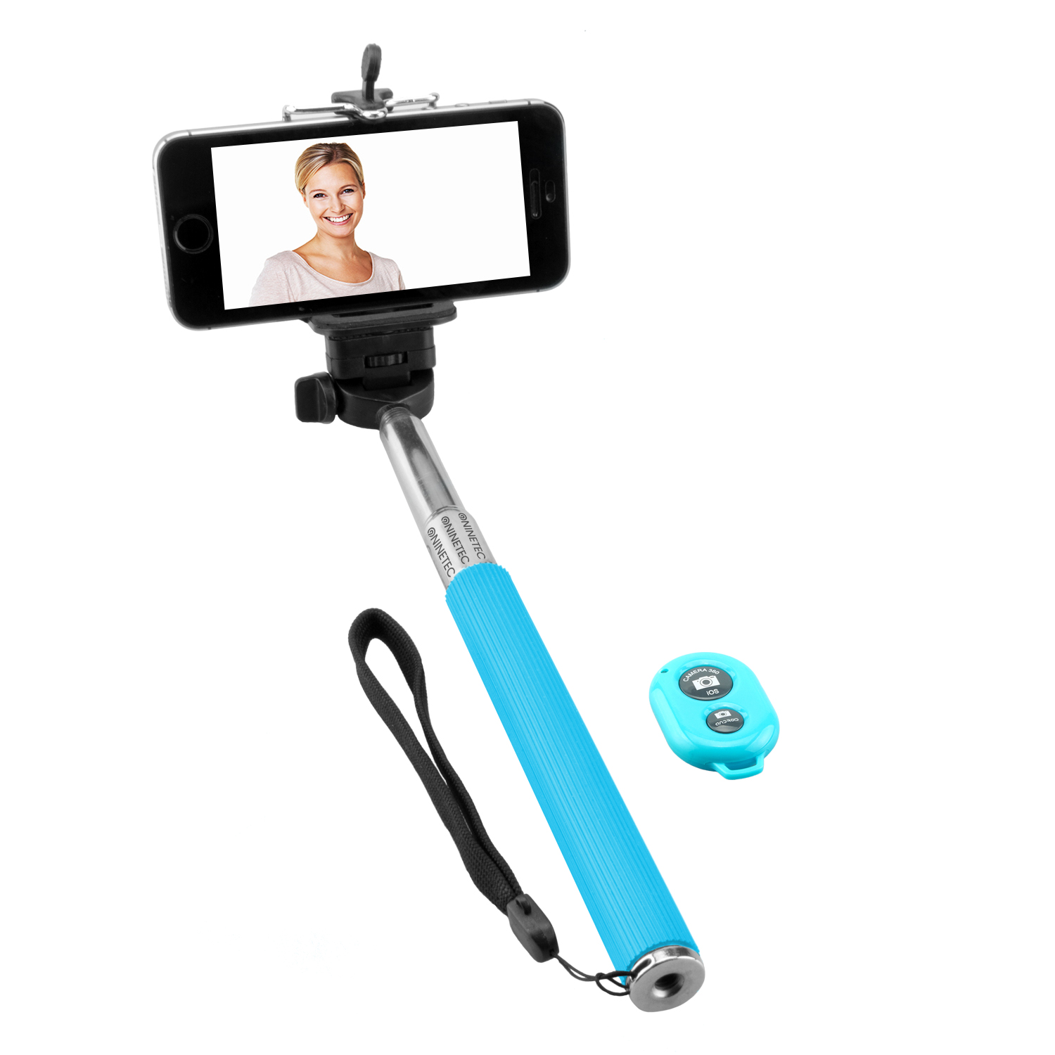 NINETEC Picturesmart Bluetooth Selfie-Maker in Blau