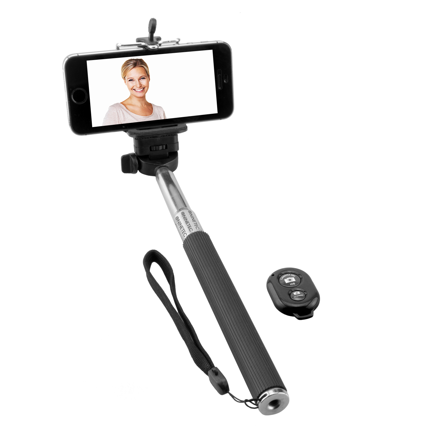 NINETEC Picturesmart Bluetooth Selfie-Maker in Schwarz