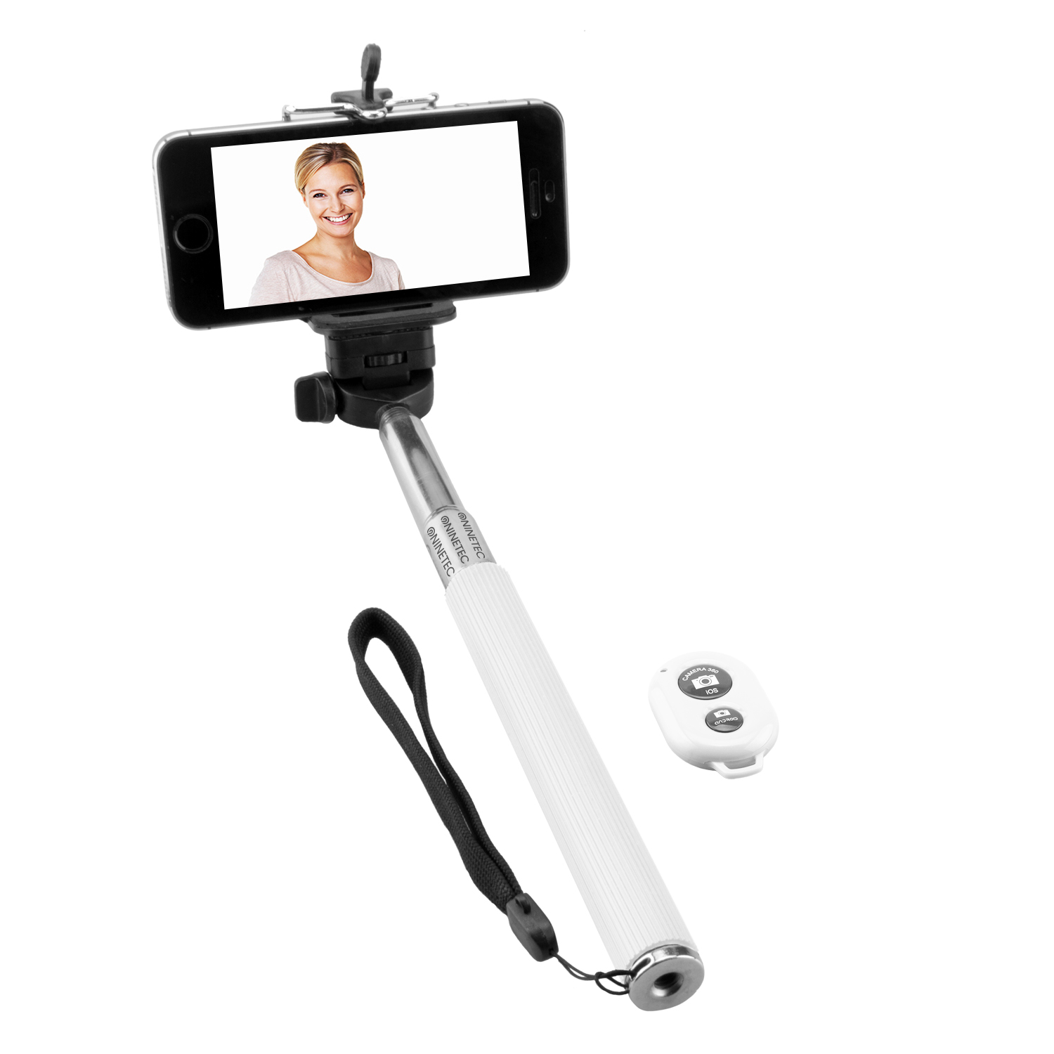 NINETEC Picturesmart Bluetooth Selfie-Maker in Weiß