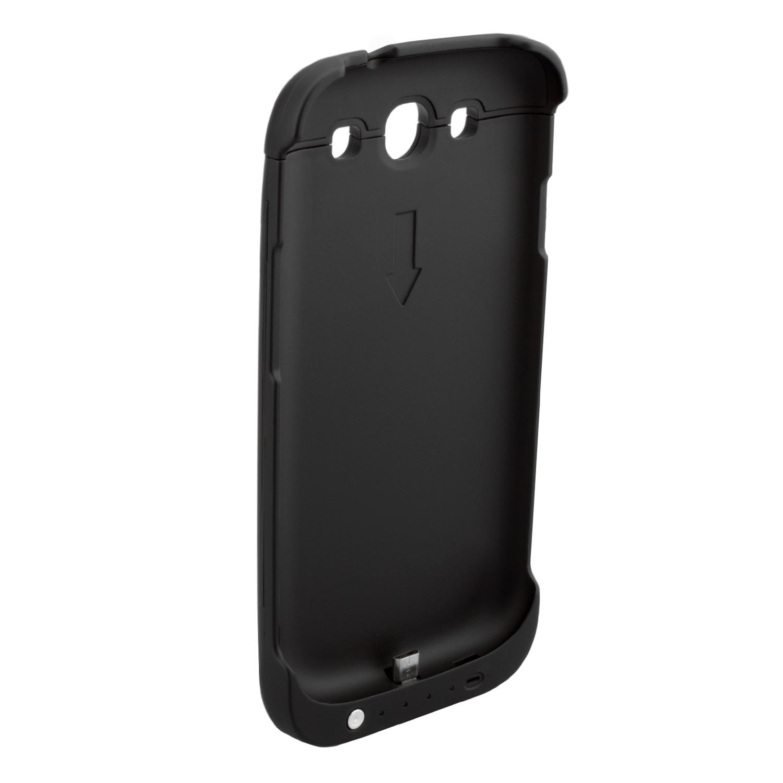 NINETEC 3200mAh PowerCase Schutzhülle + Akkufunktion für Samsung Galaxy S3 Black