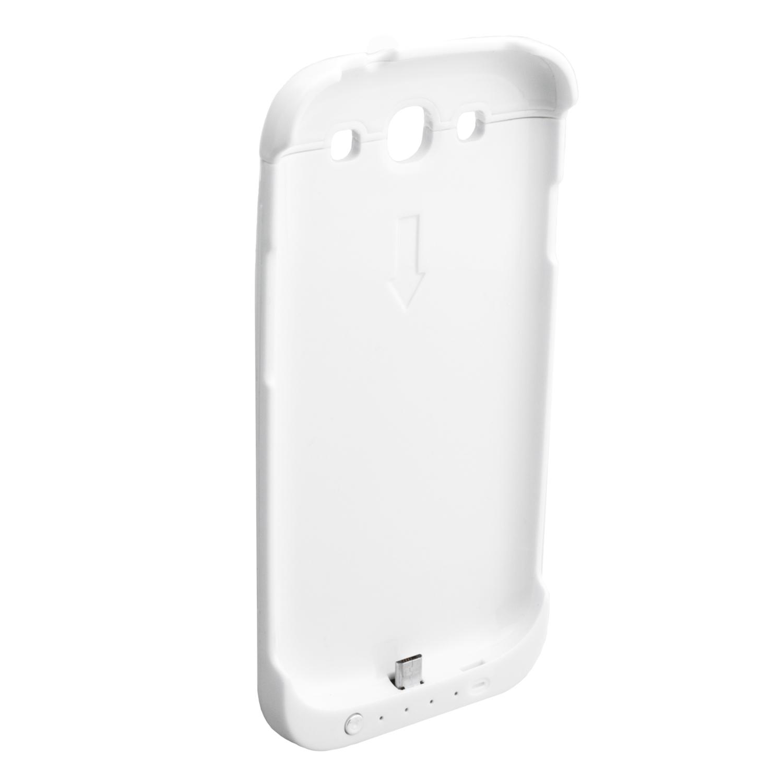NINETEC 3200mAh PowerCase Schutzhülle + Akkufunktion für Samsung Galaxy S3 White