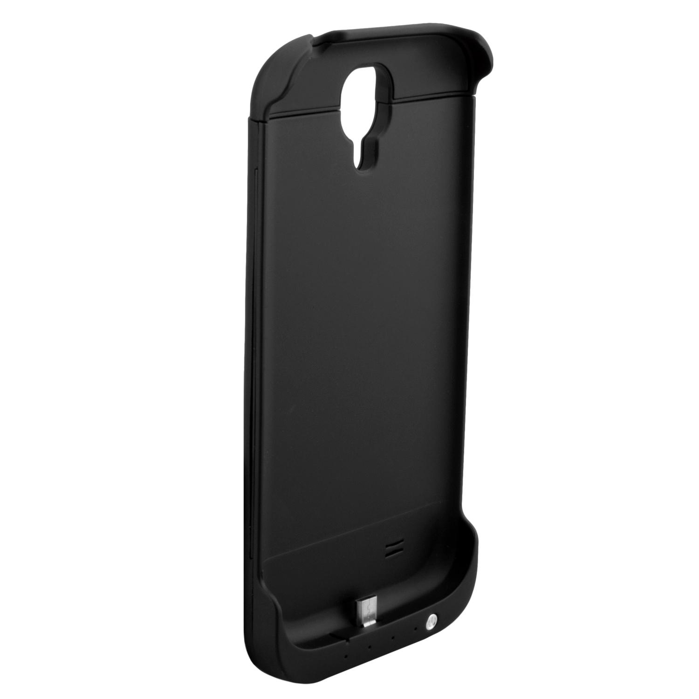 NINETEC 3200mAh PowerCase Schutzhülle + Akkufunktion für Samsung Galaxy S4 Black