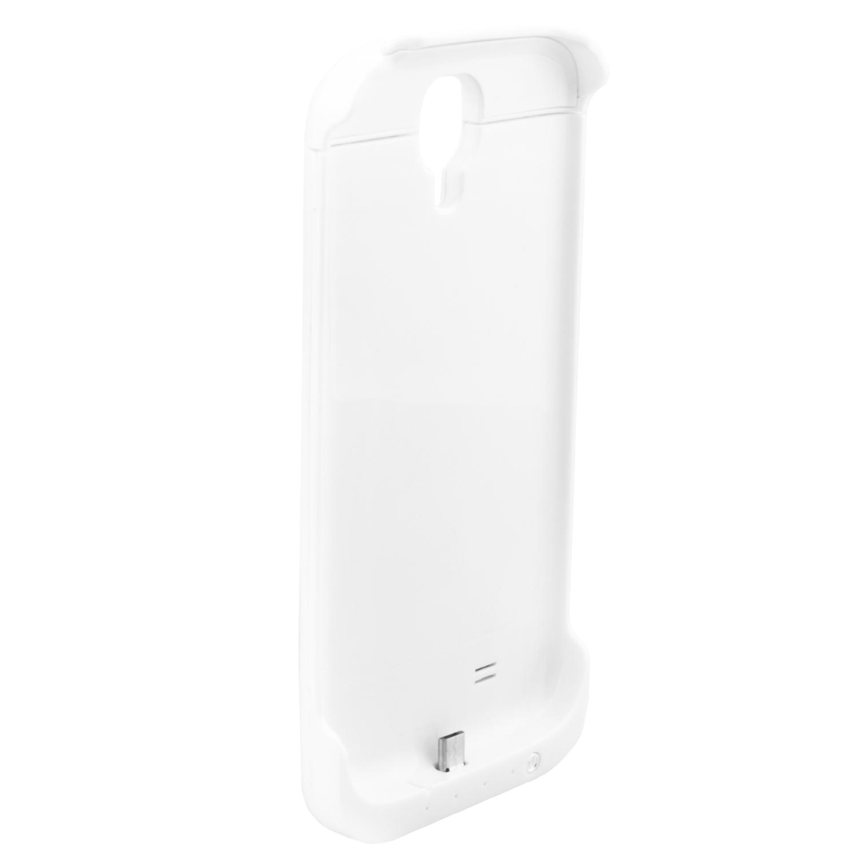 NINETEC 3200mAh PowerCase Schutzhülle + Akkufunktion für Samsung Galaxy S4 White