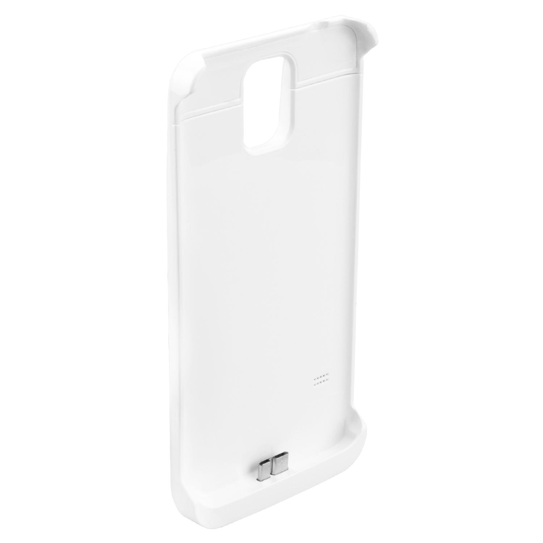NINETEC 4200mAh PowerCase Schutzhülle + Akkufunktion für Samsung Galaxy S5 White