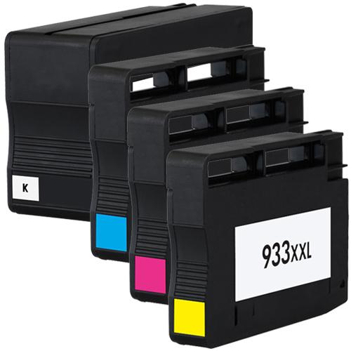 4 Druckerpatronen XXL für HP 932 XL HP 933 XL