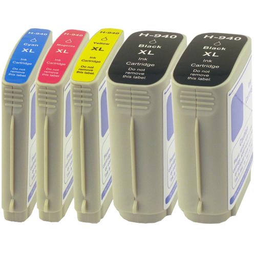 5 Druckerpatronen XXL für HP 940 XL