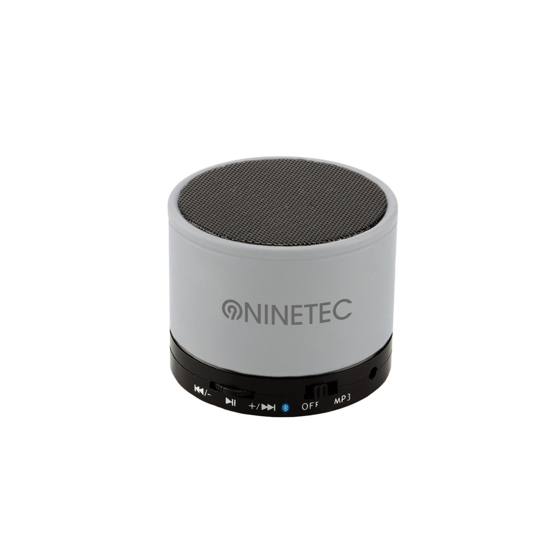 NINETEC BEATBLASTER Bluetooth Lautsprecher Speaker silber