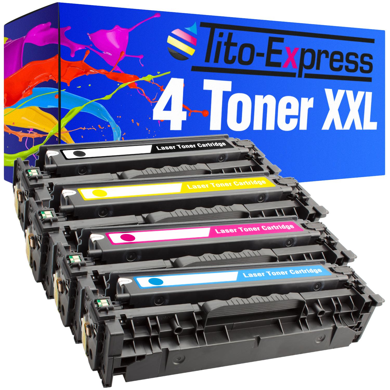 4x Toner XXL kompatibel zu HP CE410X CE411A CE412A CE413A
