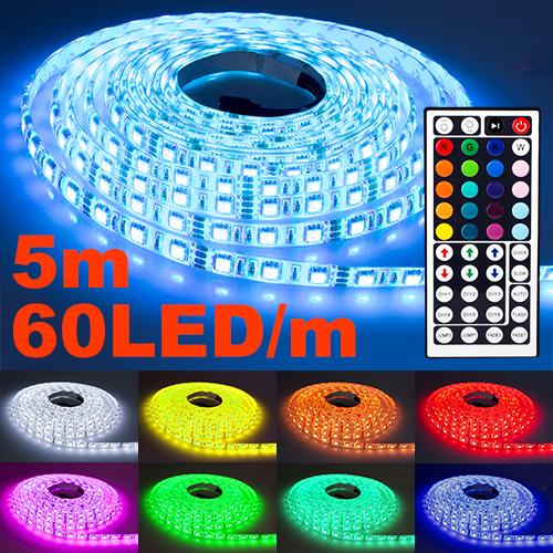 NINETEC Flash60 5m RGB LED Band 60 LED´s/m Wasserfest IP65
