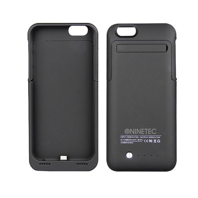 NINETEC Power Case für iPhone 6 Cover Schutzhülle mit Backup Akku 3.500mAh Black