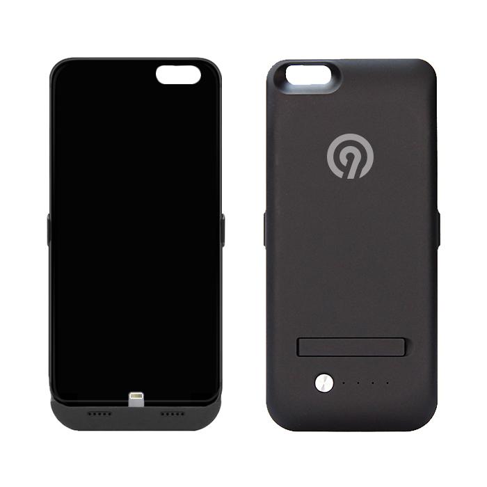 NINETEC Power Case 4.800mAh für iPhone 6 Plus Cover Schutzhülle mit Backup Akku Black