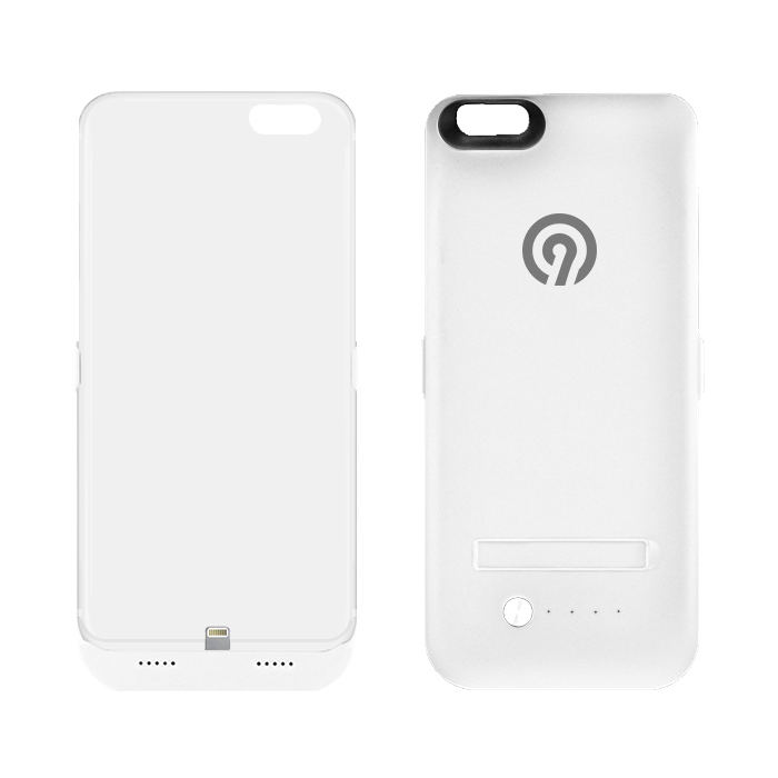 NINETEC Power Case 4.800mAh für iPhone 6 Plus Cover Schutzhülle mit Backup Akku White